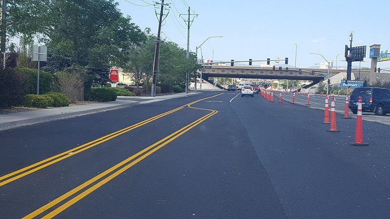 Glendale/2nd Street Reopened to Two Lanes | Reno-Sparks Indian Colony