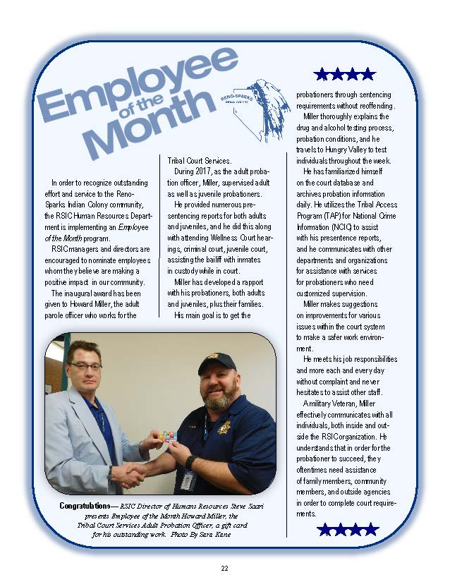 employee of the month february 2018