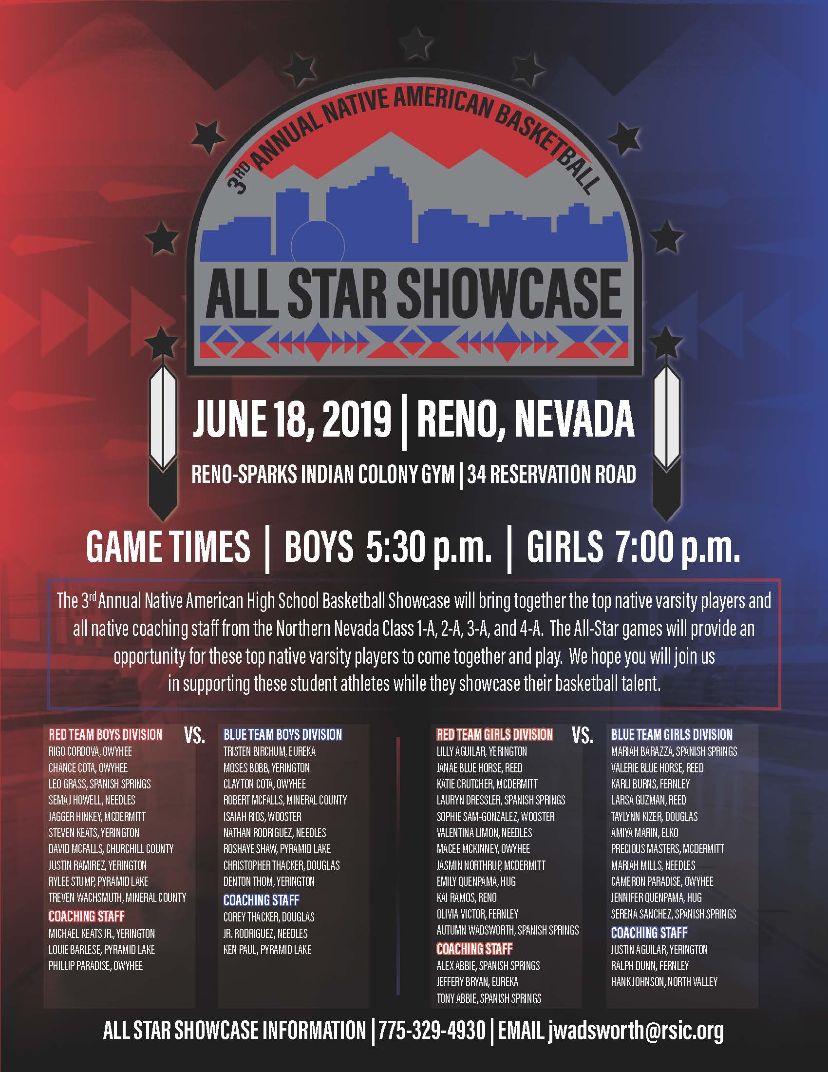 Basketball Showcase Looks Beyond Sports | Reno-Sparks Indian Colony
